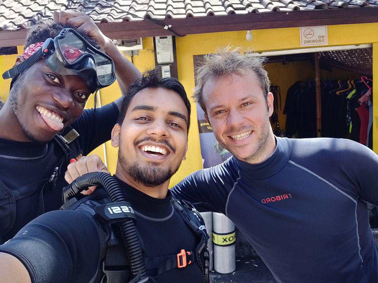 Himanshu after diving
