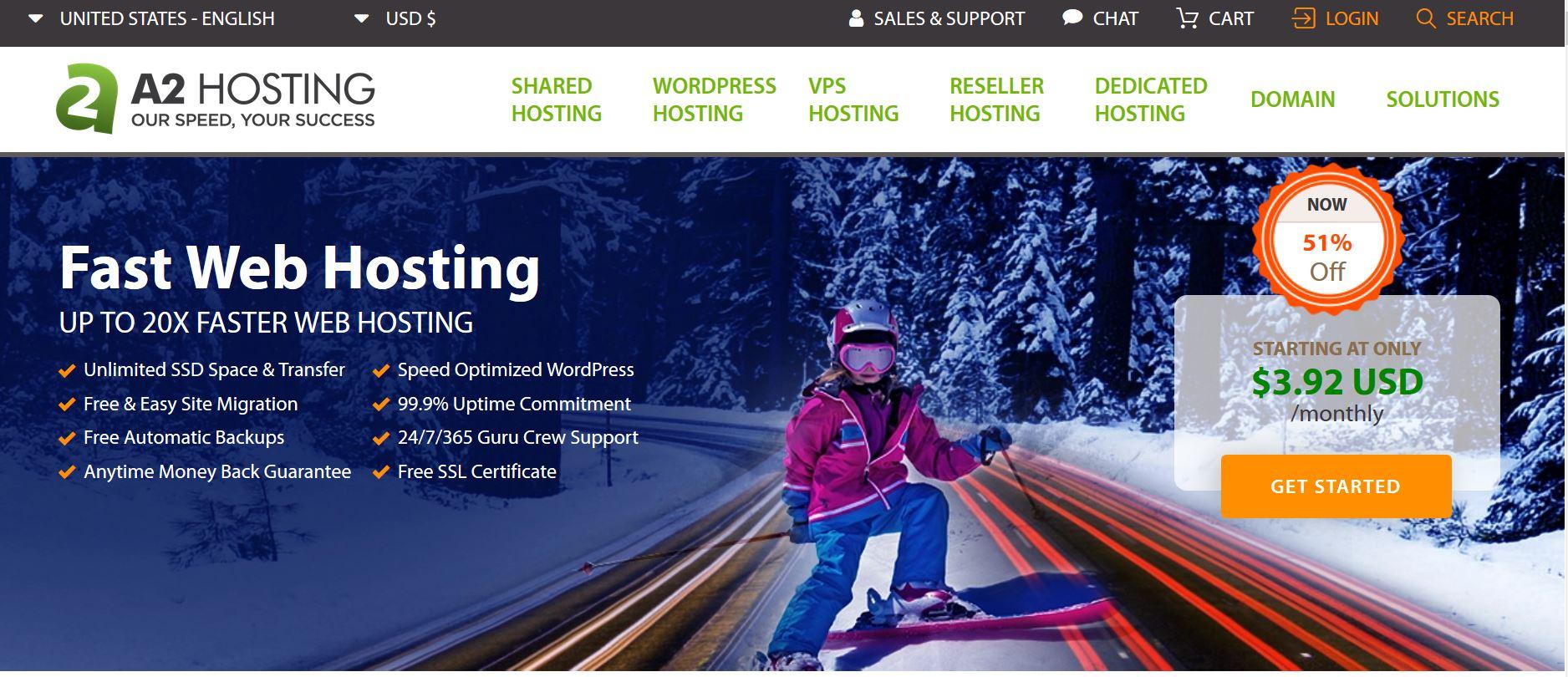 a2hosting wordpress hosting review
