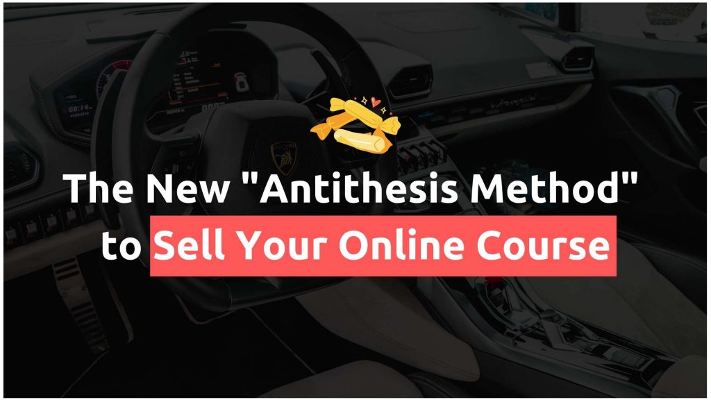 sell online course - featured method